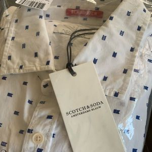 New Scotch and Soda Mens Button down shirt